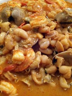 "portuguese white beans and seafood (feijoada de marisco)! 5.00 stars, 1 reviews. ""great with white rice  very tasty and easy to prepare [ok]"" @allthecooks #recipe #seafood"