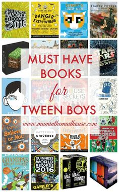 This years must have books for Tween Boys.  This list is put together by tween boys for tween boys and is great even if you have a reluctant reader