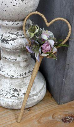 Rustic Wedding Bridesmaids Wand - Artificial Flowers