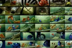 Finding Nemo concept art postcard from TX