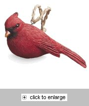 resin cardinal christmas ornament