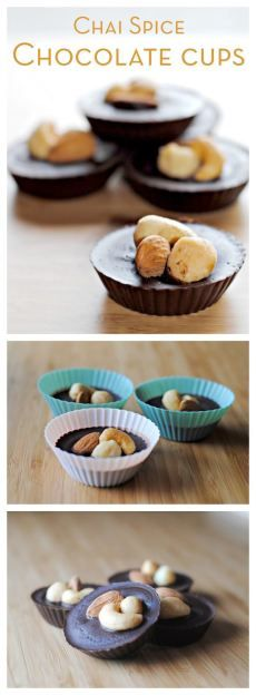Chai Spice Chocolate Cups http://theblenderist.com/chai-spice-chocolate-cups/