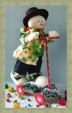Christmas Woodland Snowman Ready to Ski Decoration Christmas Chair, Christmas Baby, Christmas Snowman, Christmas Time, Christmas Stockings, Christmas Ornaments, Snowman Crafts, Diy And Crafts, Christmas Crafts