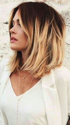 blonde and dark contrast #BlondeHairstylesDark