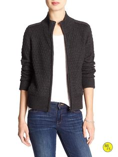 Factory Moto Sweater Cardigan