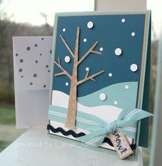 Not Quite Breezy Snow using Stampin Up Season of Friendship