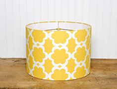 Kumari Garden Taza Drum Shade by Sassyshades on Etsy, $65.00 Perfect for a nursery or child's room!