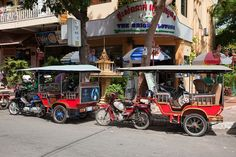 taxis in Phnom Penh, Cambodia