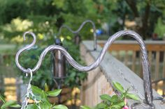 Really well forged hangers for deck railings by Burdette Ironworks located in Mercersburg, PA