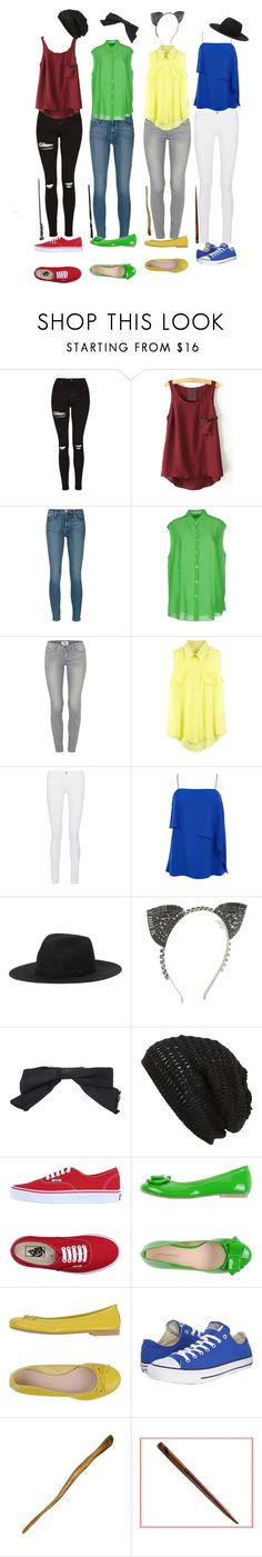 """""""The BFF squad takes a walk in the forbidden forest!!!"""" by sophia-smiles ❤ liked on Polyvore featuring Topshop, Frame, Acne Studios, Paige Denim, TIBI, Monki, BCBGMAXAZRIA, Chanel, King & Fifth Supply Co. and Vans"""