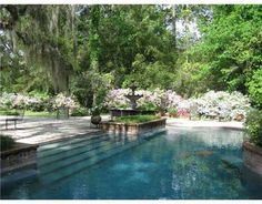 Outdoor Pool in a lovely south Louisiana landscape (home in Covington, LA)