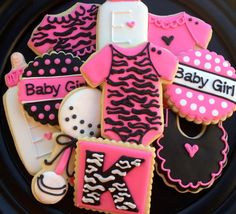 Leopard Baby Shower Sugar Cookies via Etsy Baby Cookies, Baby Shower Cookies, Easter Cookies, Sugar Cookies, Leopard Party, Red Leopard, Baby L, Cute Baby Girl, Leopard Baby Showers