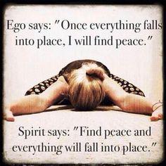 Ego vs Spirit.
