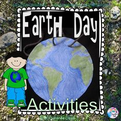 """Celebrate Earth Day with an Earth Day Medallion! Task Cards on Earth Day, geography, and simile: Earth is like a jewel, art, eye, astronaut…Action Games like """"Beach Ball Planet."""" """"I Love Earth Day"""" song, perfect for an Earth Day Celebration or presentation."""
