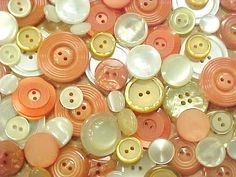 Peaches and Cream Mix Vintage Plastic Sewing by nickelnotions