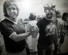 I congratulate Bob Seger after he and the Silver Bullet Band beat us in the second game of the softball doubleheader. Bob Seger, Silver Bullet, My Favorite Music, The Man, Superstar, Two By Two, Singer, Softball, Band