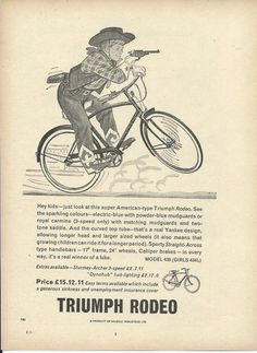 The Triumph Rodeo Bicycle 1960 Advertisement | eBay