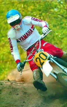 Mikkola 1977 Mx Bikes, Yamaha Bikes, Motocross Racer, Old Scool, Off Road Bikes, Off Road Racing, Vintage Motocross, Racing Motorcycles, Dirtbikes
