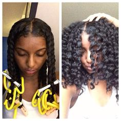 Before and after. Twist out using eco styler gel