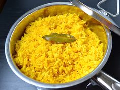 From Budget Bytes - This savory Yellow Jasmine Rice combines fragrant Indian spices and chicken broth to make the most flavorful rice you've ever tasted! Step by step photos. Indian Food Recipes, Vegetarian Recipes, Cooking Recipes, Healthy Recipes, Budget Recipes, Family Recipes, Healthy Cooking, I Love Food, Good Food