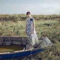"""Yuko Bird Print Maxi Dress available at Centro39.com Photo: """"Haiuku"""" Erika Cavallini new special project with the photographer Monia Merlo"""