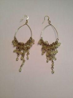 Cream Chandelier Dangle Drop Bead Earrings Costume Jewelry $7.20 via @shopseen