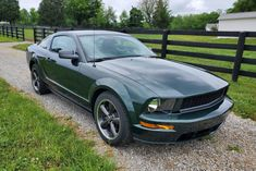 This 2009 Ford Mustang Bullitt has 17k miles and was purchased new by the seller from Tri-County Ford of Radcliff, Kentucky. It is finished in Dark Highland Green over Dark Charcoal leather and is powered by a 4.6-liter V8 paired with a five-speed manual transmission and a limited-slip differential. Equipment includes 18″ Bullitt wheels, a power-adjustable driver's seat, air conditioning, a Shaker 500 audio system, and power windows, locks, and mirrors. 2009 Ford Mustang, Ford Mustang Bullitt, Ford Mustangs, All Terrain Tyres, Limited Slip Differential, Classic Cars Online, Audio System, Manual Transmission, Touring