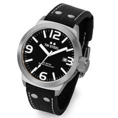 aa1296168 TW Steel Canteen Men s Black Dial Strap Watch From Berry s Jewellers.