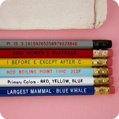 Know It All Pencil Set, $10