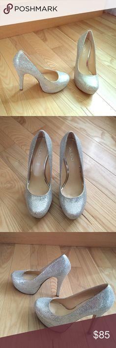 Aldo sexy silver pumps Worn once ALDO Shoes Heels