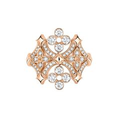 designs Dentelle de Monogram pink gold ring For the first time we see the Louis Vuitton Official Louis Vuitton Dentelle de Monogram ring in as takes the famous flower-shape logos from the Maison's trunks and turns them into delicate jewels. Pink Gold Rings, Pink And Gold, Pink Ring, Jewelry For Her, Fine Jewelry, Jewelry Box, Vintage Jewelry, Jewelry Accessories, Louis Vuitton Jewelry