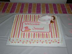 This Is A Cake That I Jsut Decorated For A Coworkeru0027s Baby Shower. It Was