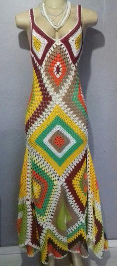 Boho Crochet Patterns, Hippie Crochet, Crochet Designs, Crochet Skirts, Crochet Clothes, Crochet Baby, Knit Crochet, Crochet Stitches, Crochet Books