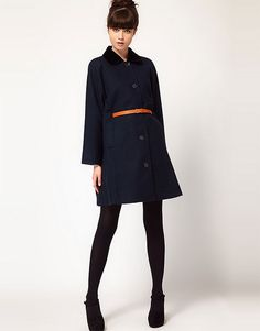 9. Clothes: winter must-have - Velvet collar swing coat #organizedliving #organizedcloset