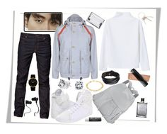 """lee shin"" by ju-on ❤ liked on Polyvore featuring Nigel Cabourn, Y-3, WNDERKAMMER, Cheap Monday, Tom Ford, Balenciaga, Bling Jewelry, Jimmy Choo, Givenchy and Monster"