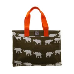 Elephant Canvas Tote Small. 11 x 15 x 6. canvas. iomoi.