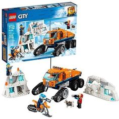 Lego City Arctic Expedition Scout Truck 60194 Play Set Building Kit with Minifigs, Multicolor Lego Truck, Toy Trucks, Scout Truck, Figurine Lego, Snow Vehicles, Arctic Explorers, Construction Lego, Husky, Exploration