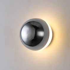 Some bling for the wall this ultra stylish 6 watt LED wall light uses high quality LED's to produce 600 lumens of light output, the front of the fitting is finished in chrome with an opal acrylic reflector behind that gives a halo of light. Indoor Wall Lights, Bathroom Wall Lights, Modern Wall Lights, Led Wall Lights, Wall Lighting, Interior Wall Lights, Interior Walls, Interior Lighting, Modern Interior
