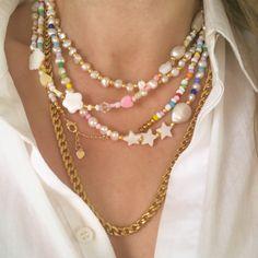 Bead Jewellery, Pearl Jewelry, Beaded Jewelry, Jewelery, Handmade Jewelry, Beaded Bracelets, Diy Necklace, Necklace Designs, Necklaces
