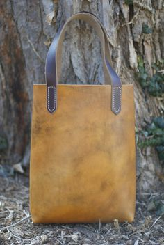 The Carrie B - Leather Tote Bag from MADE SUPPLY CO. #leathergoods #totebag