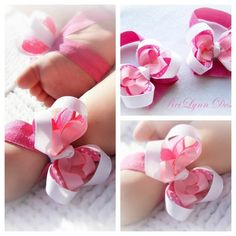 'Pink Baby Barefoot Sandals' is going up for auction at  2pm Fri, Jun 29 with a starting bid of $1.