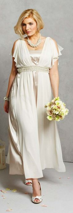Second time around on pinterest older bride second for Wedding dresses for plus size mature brides