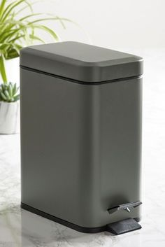 Buy Pedal Bin from the Next UK online shop Woven Laundry Basket, Next Uk, Chrome Plating, Shower Heads, Bath Towels, Bathroom Accessories, Contemporary Design, Metal, Plastic