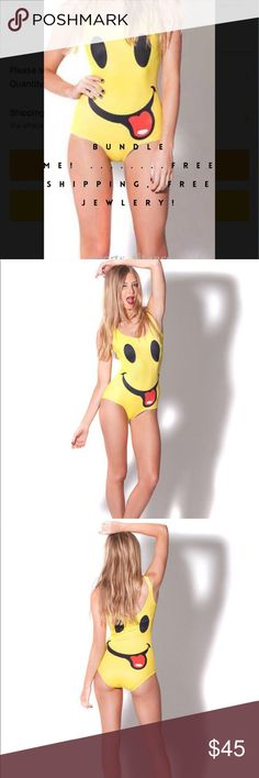 💋💋Swim SUIT💋💋 💋💋SMILING FACE EMOJIE SWIM💋💋sizes small, med. and large💥💥💥LINING ONLY IN CROUCH AREA Coach Swim One Pieces