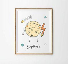 Jupiter Planet Print 5 x 7 in 8 x 10 in by LittleUniverseShop