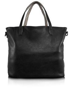 b709203ce2 MAMAREDBAG – Shopping Bag 2-Face Serpente Nera da Donna Double Face Tote