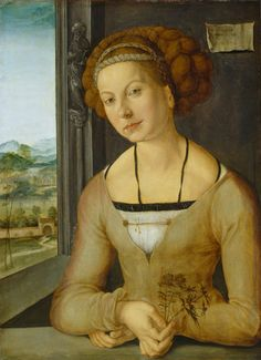 Albrecht Dürer - Portrait de la dénomée Fuerlegerin aux cheveux