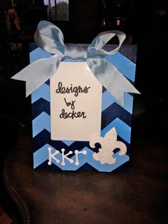 Kappa Kappa Gamma Handpainted Picture Frame by DesignsByDecker, $20.00
