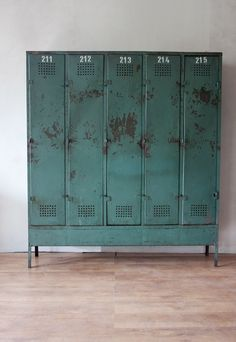 old industrial cabinet locker