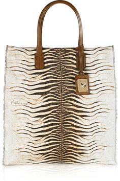 zebra tote bag - roberto cavalli